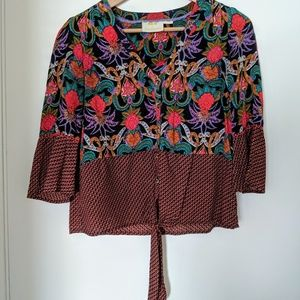 Anthropologie 3/4 length sleeve blouse
